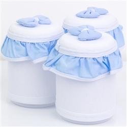 Jogo de Potes Estrada Azul Bebê