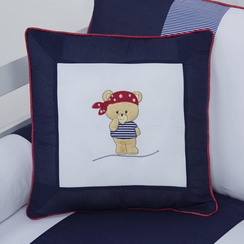 Almofada Bordada Urso Pirata