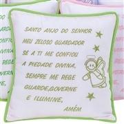 Almofada Oração Santo Anjo Verde