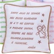 Almofada Oração Santo Anjo Bege