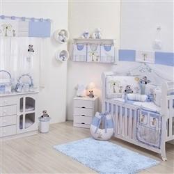 Quarto para Bebê sem Cama Babá Selva Azul