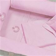 Jogo de Lençol para Berço Desmontável Ursa Rosa 1,30m x 80cm