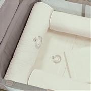 Kit Berço Completo Desmontável Urso Palha 1,30m x 80cm