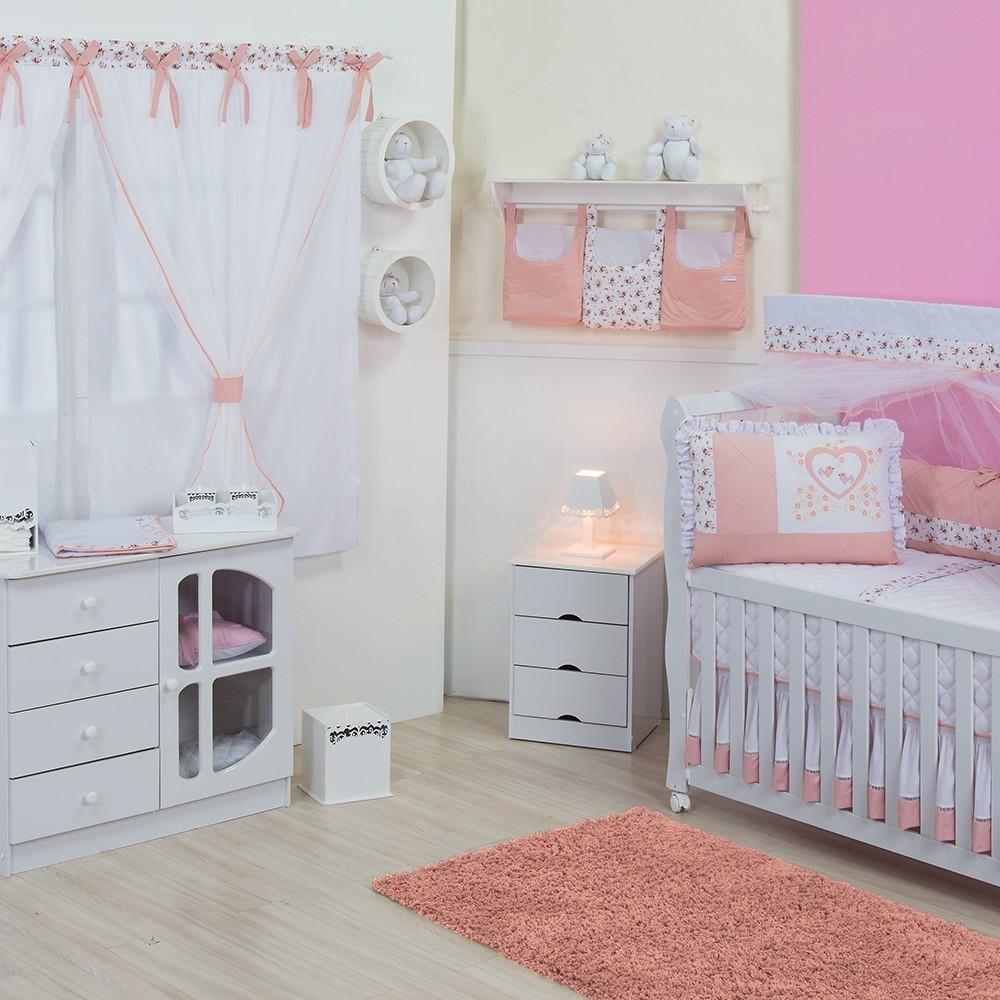 Quarto para Bebê sem Cama Babá Jardim Encantado
