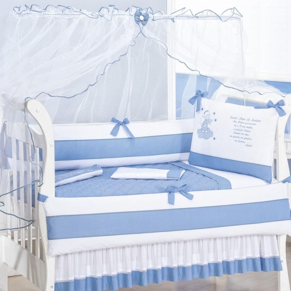 Kit Berço Santo Anjo Azul