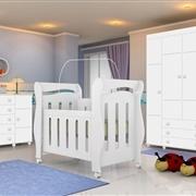 Quarto para Bebê Chamego com Guarda Roupas 4 portas 3 gavetas