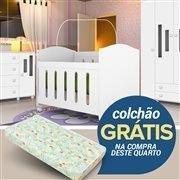 Quarto para Bebê Ternura com Berço/Cômoda/Guarda Roupas de 4 portas