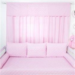 Cortina Filó Rosa