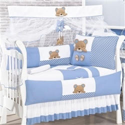 Kit Berço Dorminhoco Azul
