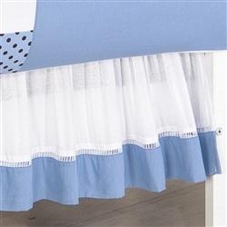 Saia para Berço Dorminhoco Azul