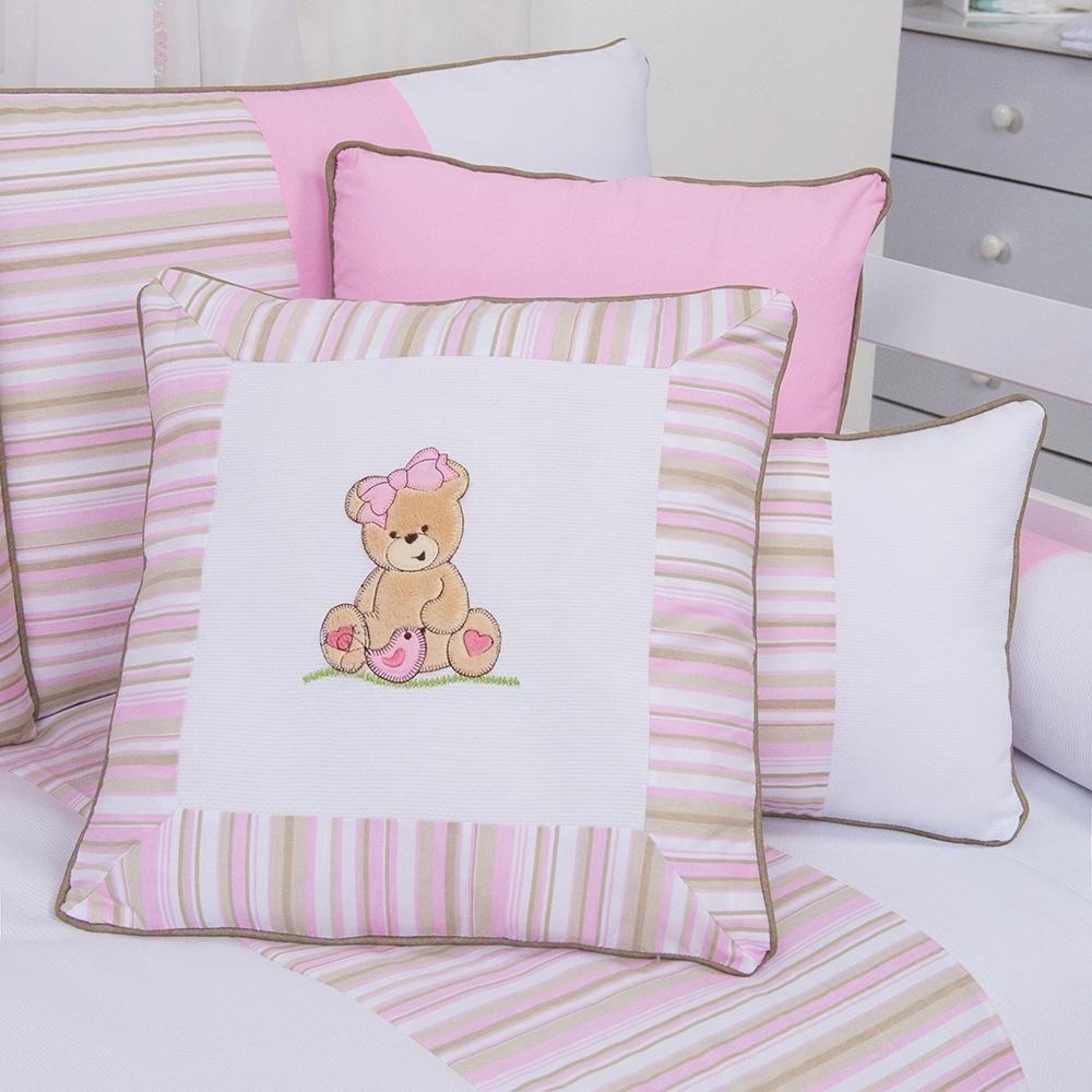 Almofadas Decorativas Ursa Passarinho