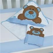 Jogo de Toalhas Família Urso Azul