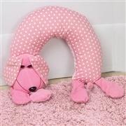 Almofada para Amamentação Cachorro Rosa