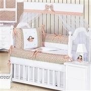 Quarto para Bebê sem Cama Babá Princesinha Salmão