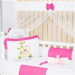 Kit Berço Ursa Pink