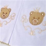 Kit Fraldas e Toalha de Banho Urso Teddy