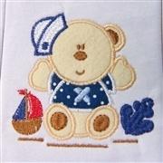 Jogo de Fraldas Boca Malha Urso Marinheiro