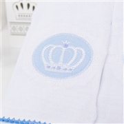 Kit Fraldas e Toalha de Banho Coroa Azul