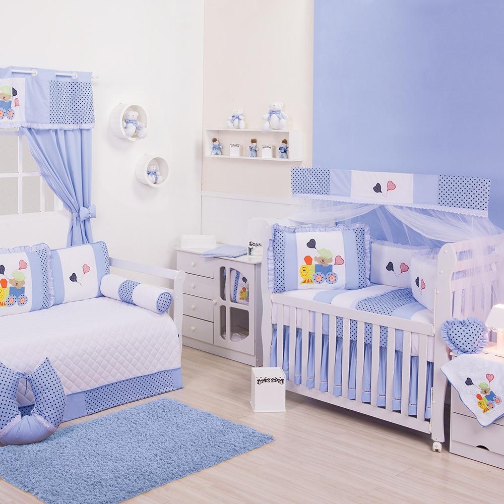 Quarto para Bebê Trenzinho Azul