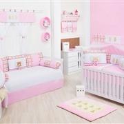 Quarto para Bebê Ursinho Luxo Rosa