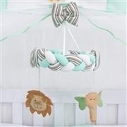 Quarto para Bebê sem Cama Babá Baby Zoo Verde