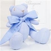 Urso P Xadrez Azul