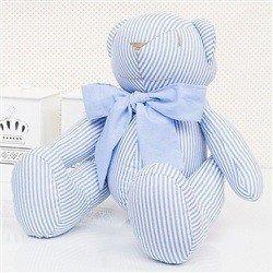 Urso M Listrado Azul