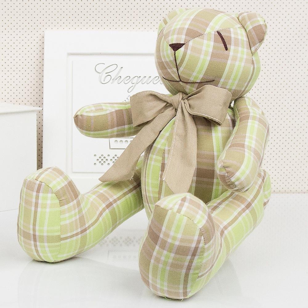 Urso M Xadrez Bege e Verde