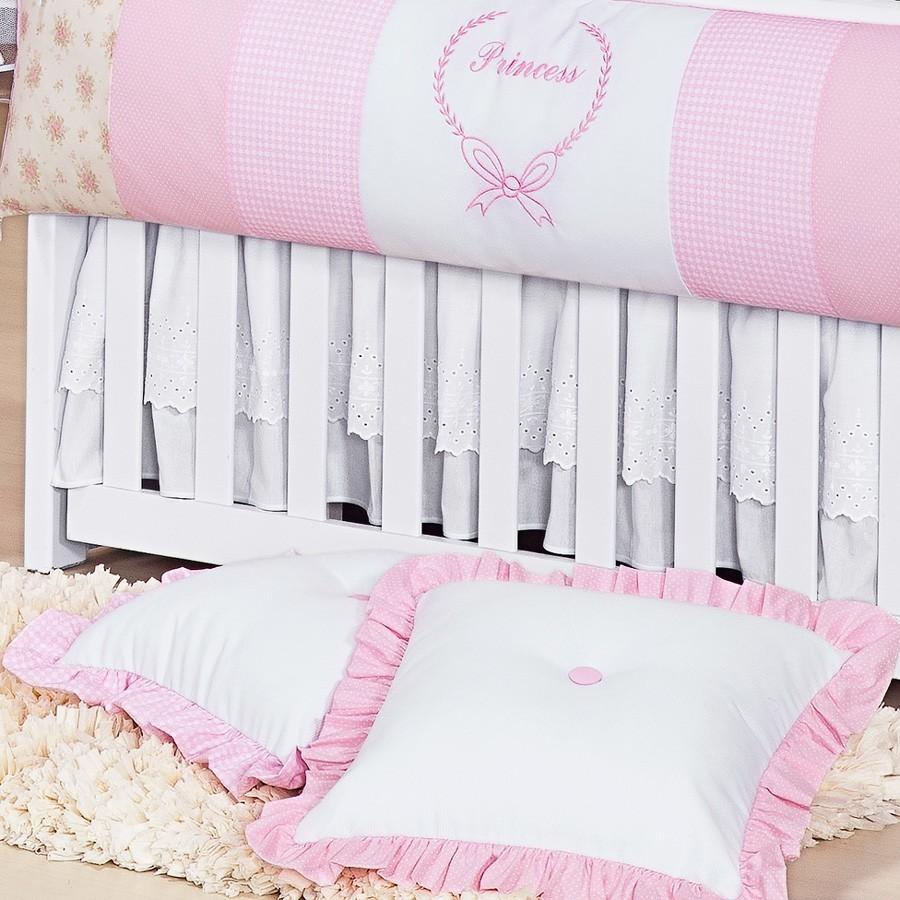 Almofadas Decorativas Rosa Princess