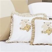 Almofada Decorativa Cáqui Família Urso