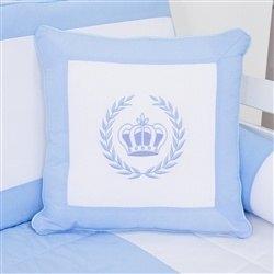 Almofada Bordada Realeza Azul