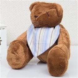 Urso M Bandana Listrada Azul