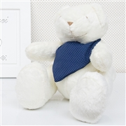Urso M Bandana Poá Azul