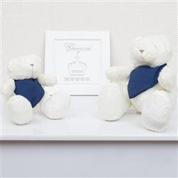 Ursos Bandana Poá Azul