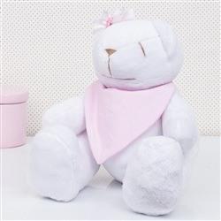 Urso M Bandana Rosa