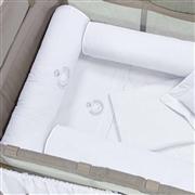 Kit Berço Completo Desmontável Urso Branco 1,16m x 80cm