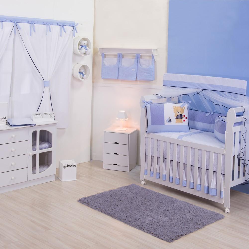 Quarto para Bebê sem Cama Babá Mar Azul