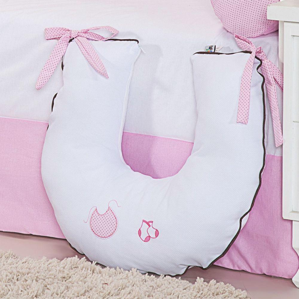 Almofada para Amamentação Meu Bebê Rosa