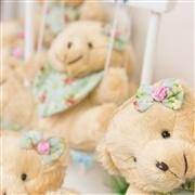 Lembrancinhas Maternidade Ursinho Mini Bandana Floral