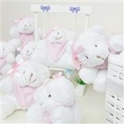 Lembrancinhas Maternidade Ursinho Mini Bandana Rosa