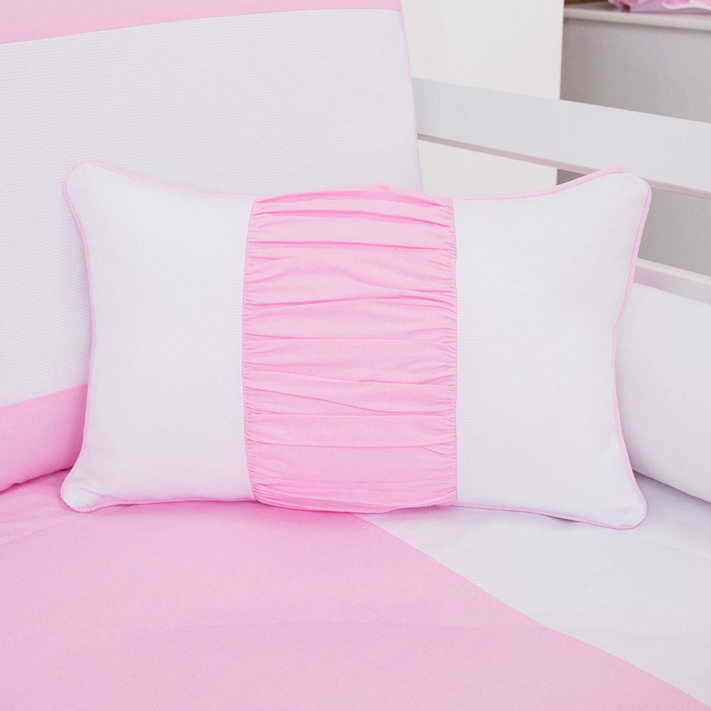 Almofada Retangular Realeza Rosa