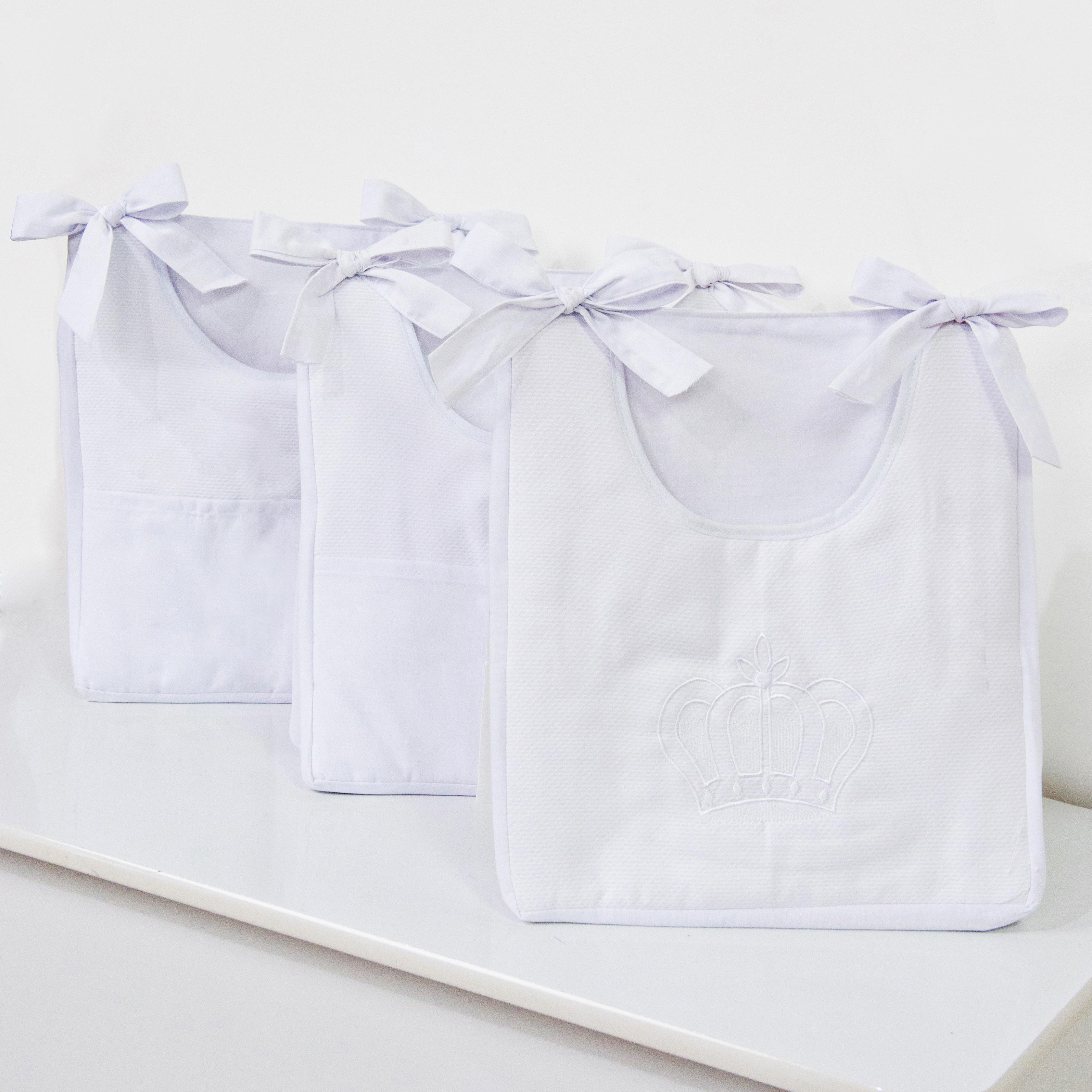 Porta Fraldas Varão Realeza Branco