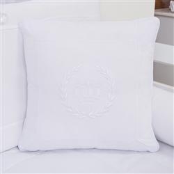 Almofada Bordada Realeza Branco