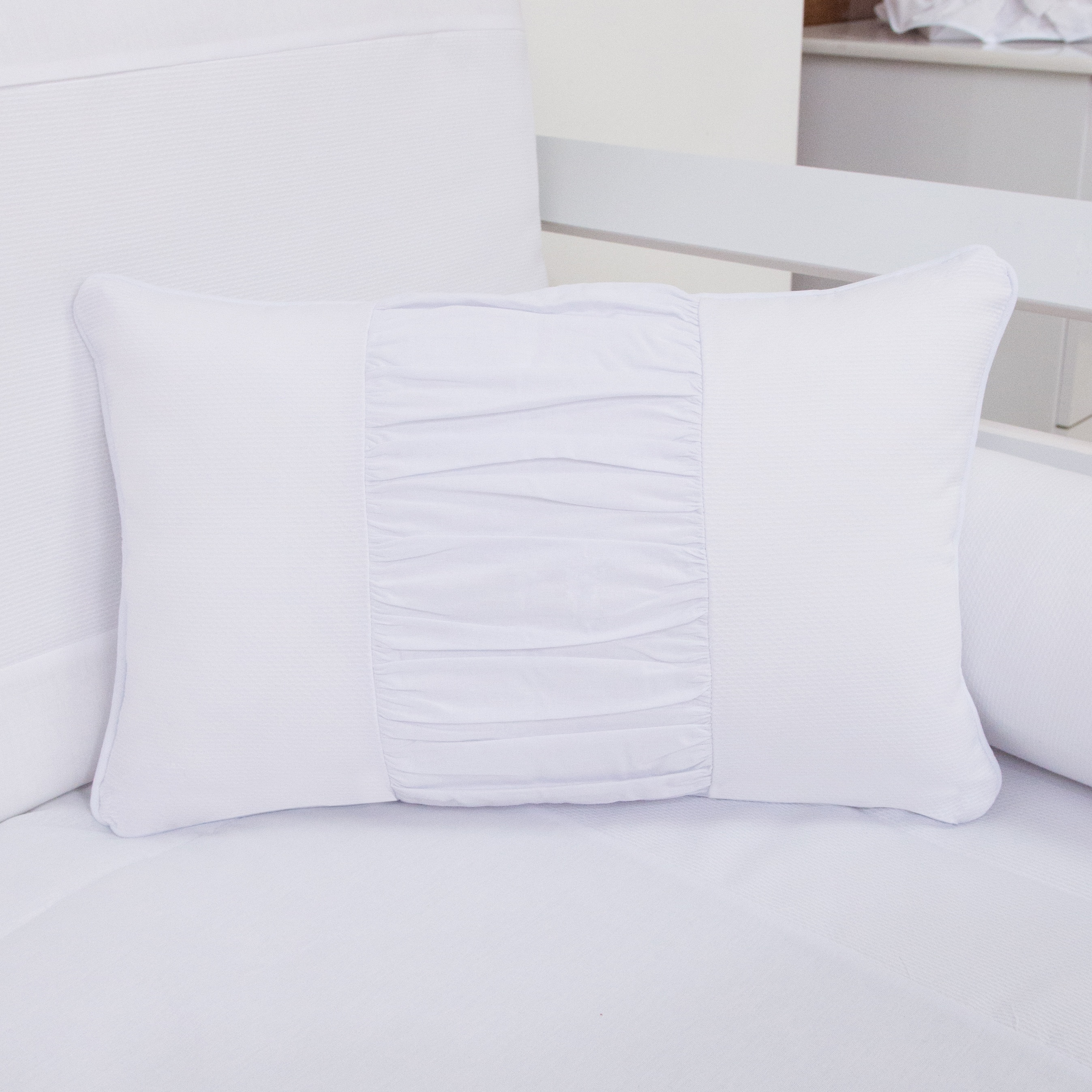 Almofada Retangular Realeza Branco