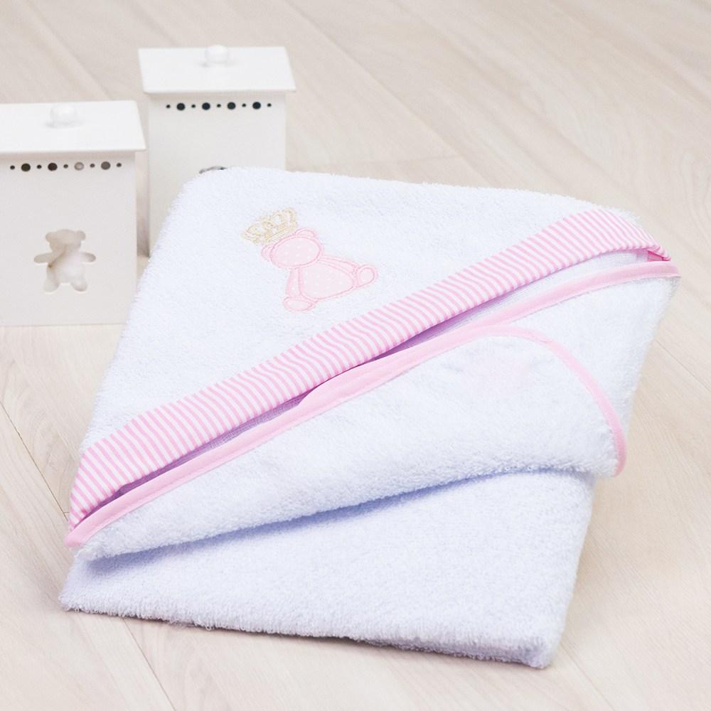 Toalha de Banho Teddy Rosa