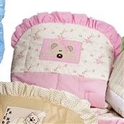 Capa de Bebê Conforto Ursinha Rosa