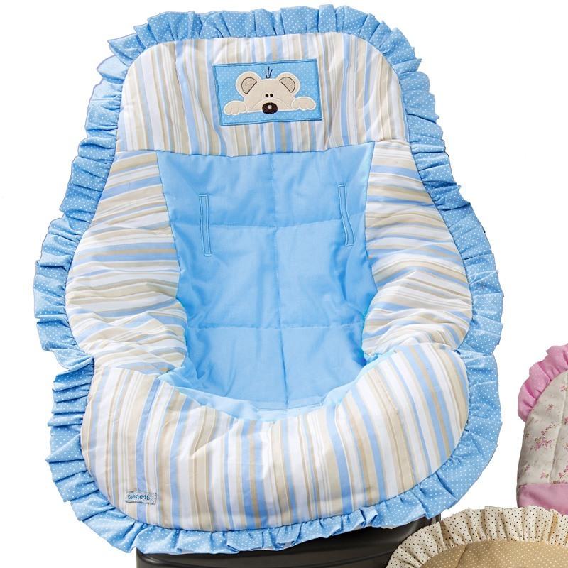 Capa de Bebê Conforto Ursinho Azul