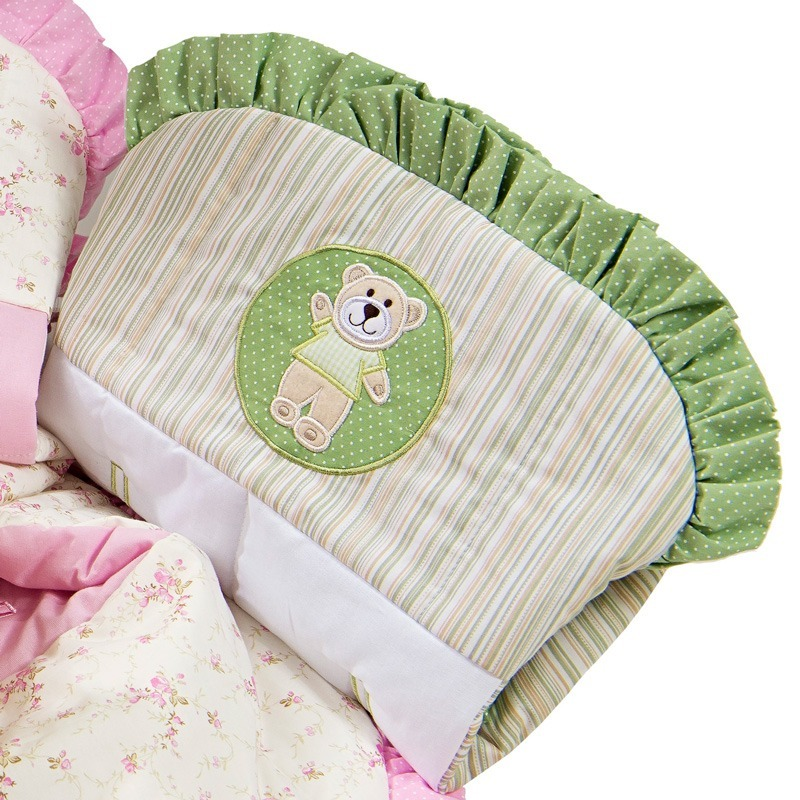 Capa de Bebê Conforto Ursinho Verde