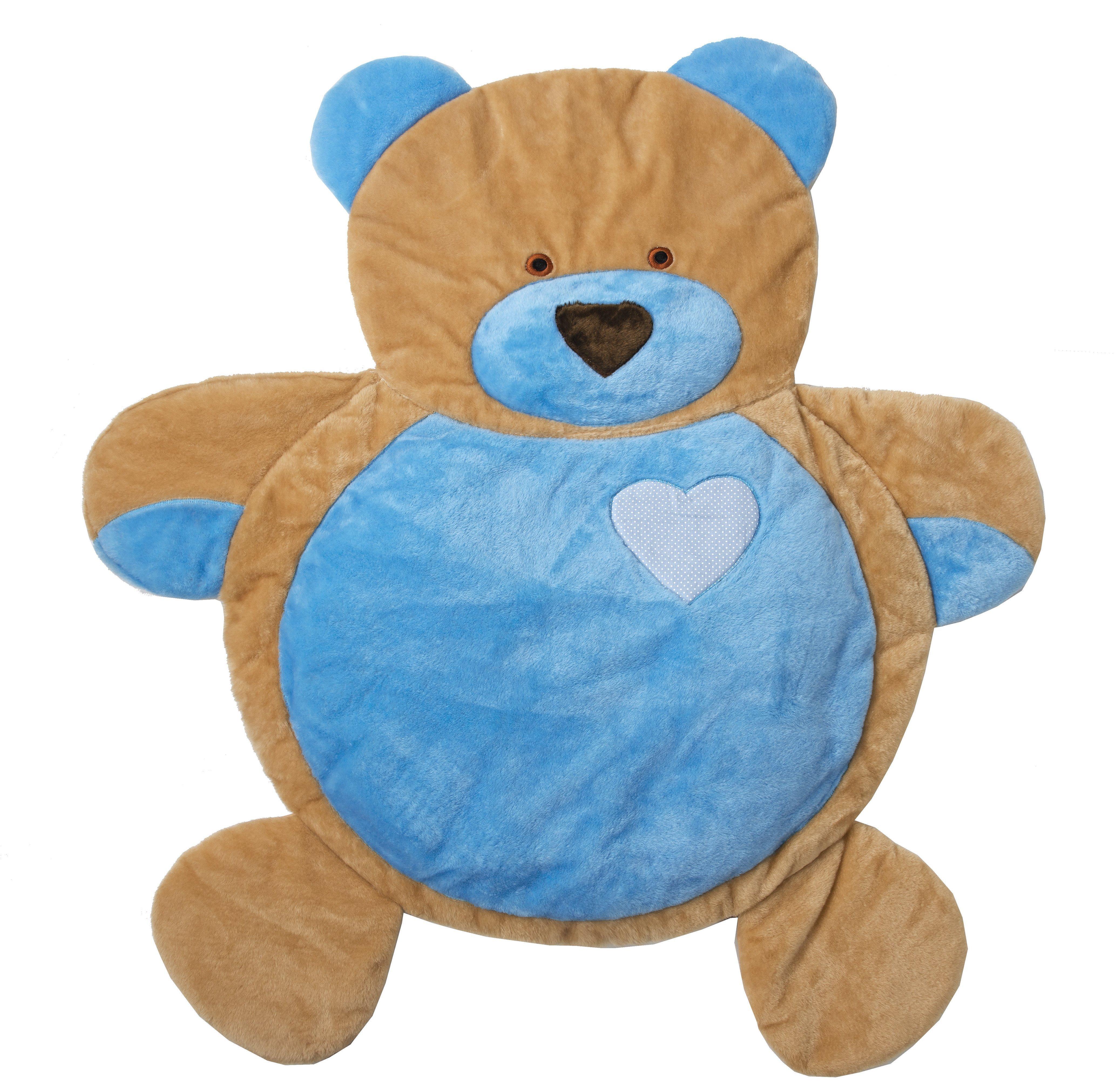 Tapete Ursinho Coração Azul