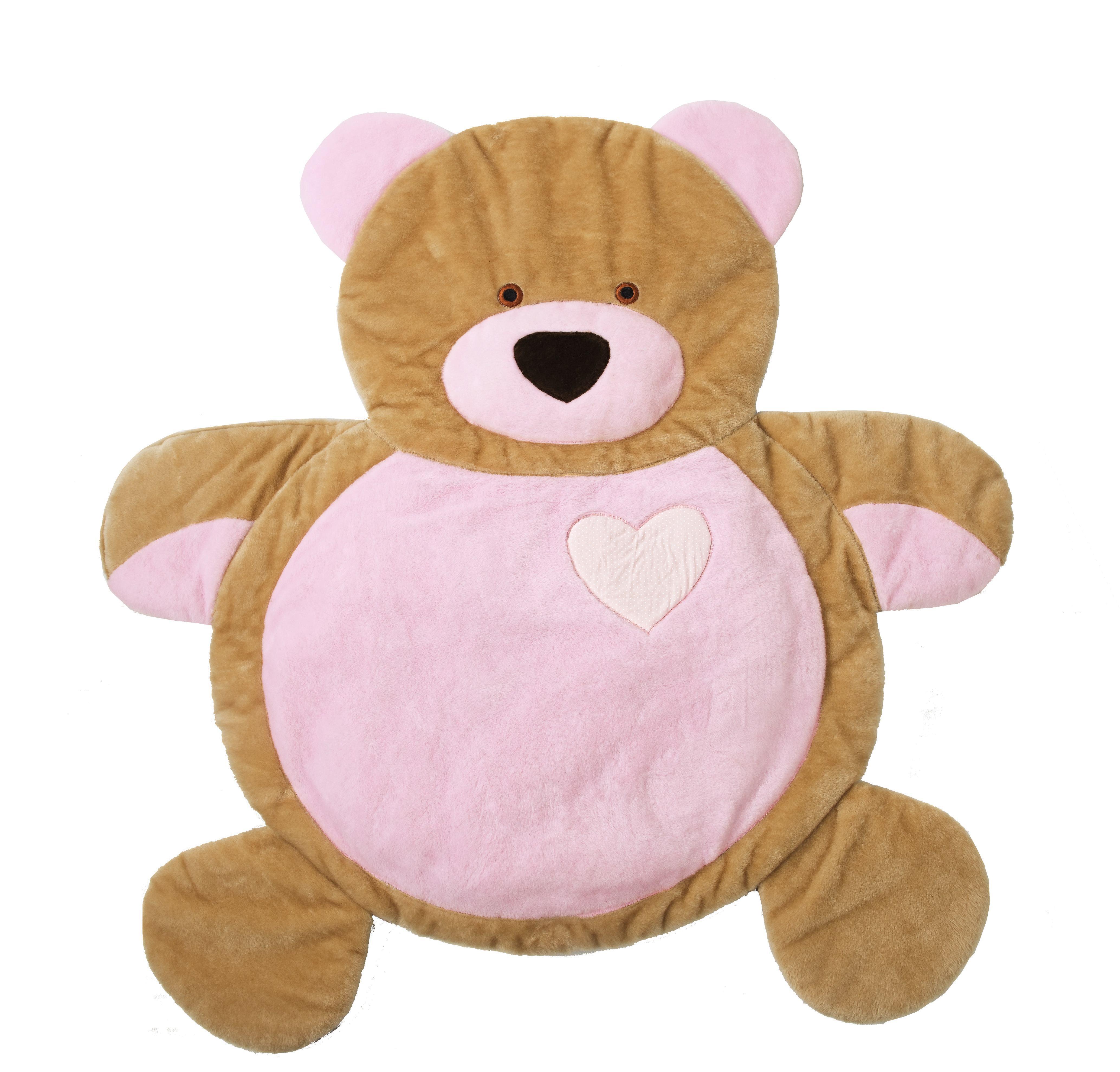 Tapete Ursinho Coração Rosa